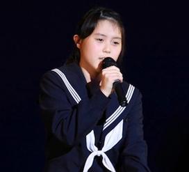 江南紅白歌合戦で熱唱の上田桃夏さん